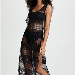 PILYQ Black Joy Lace Bathing Suit Cover Up NWT